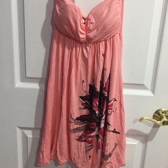 93d3e1e76f3352 Joyce Leslie Dresses | Strapless Pink Floral Dress Small | Poshmark